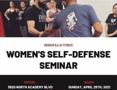 Women's Self-Defense Seminar – April 25th, 2021