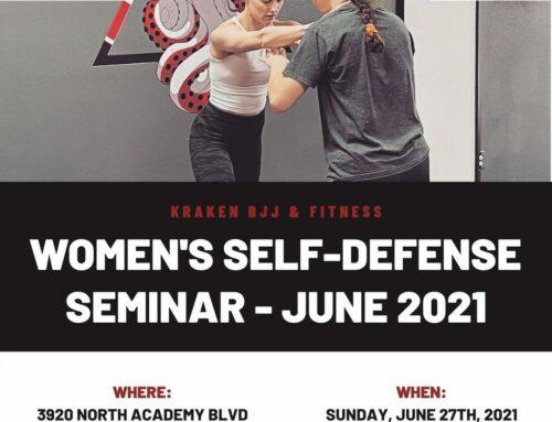 Women's Self-Defense Seminar – June 27th, 2021